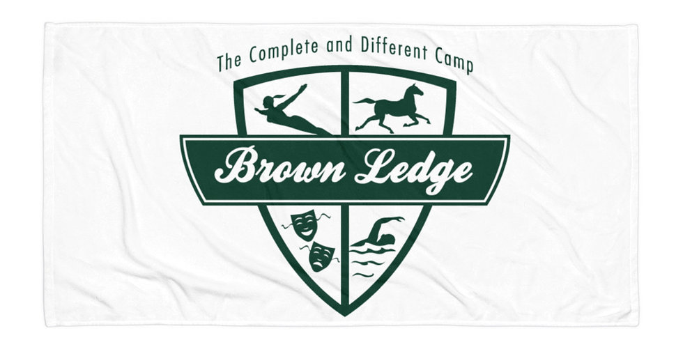 Brown Ledge Green Crest Towel