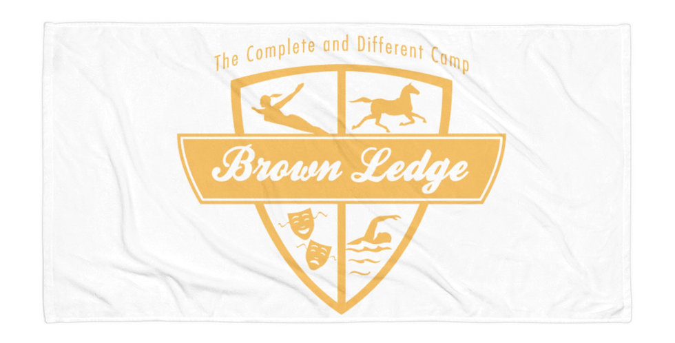 Brown Ledge Yellow Crest Towel