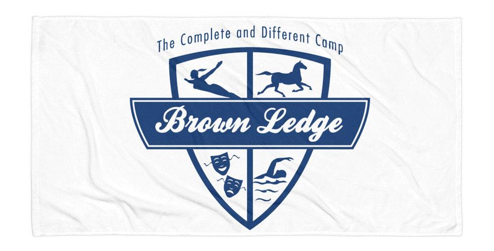 Brown Ledge Blue Crest Towel