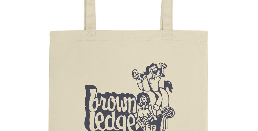 Brown Ledge Vintage Tote Bag