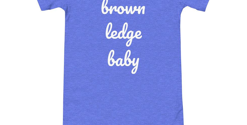Brown Ledge Baby Onesie