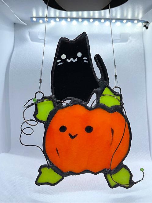 Stained Glass Suncatcher - Pumpkin 8