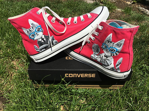 Custom Painted Converse shoes - Full Color
