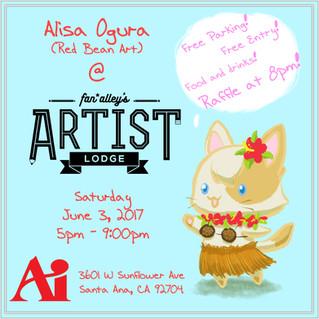 Fan*Alley's Artist Lodge event - June 3rd!