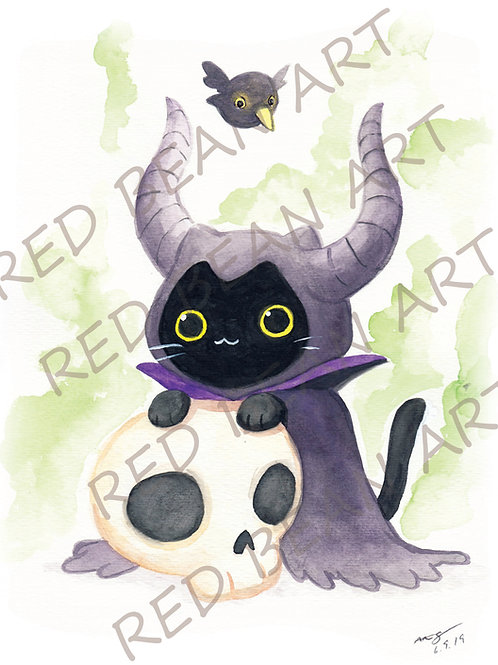 Meowlificent Kitty -print