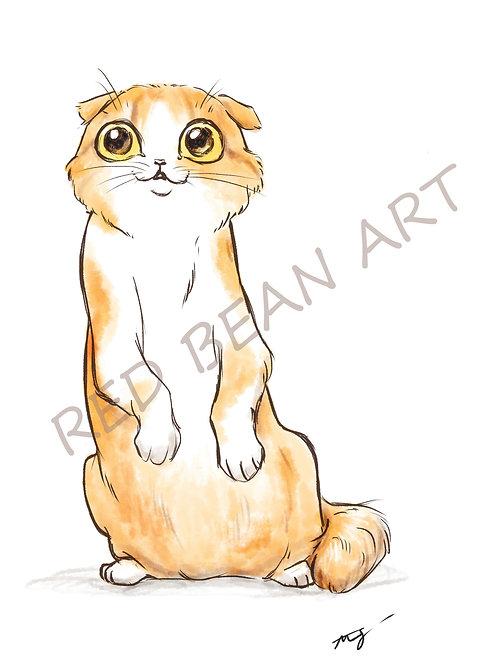 Rapurnzel Kitty -print