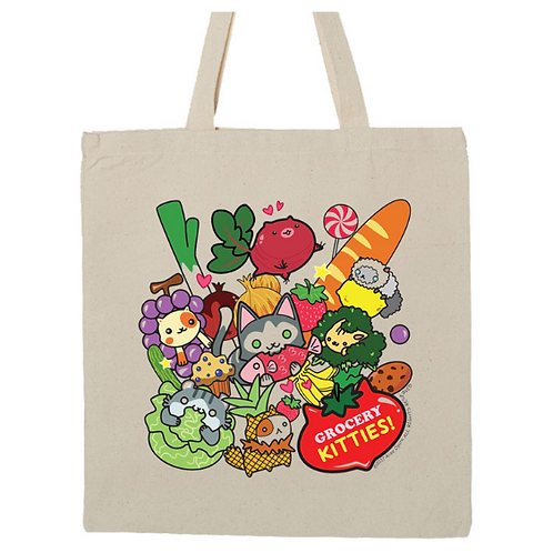 """Grocery Kitties!"" Tote bag"