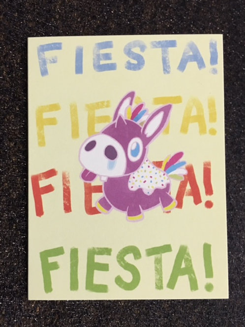Fiesta! Uni-Donkey Greeting Card (mini)