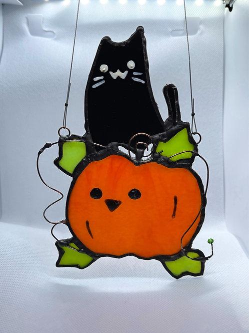 Stained Glass Suncatcher - Pumpkin 4