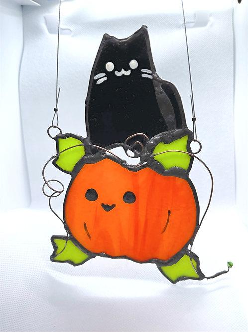 Stained Glass Suncatcher - Pumpkin 1