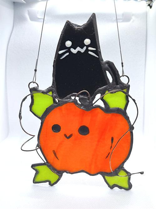 Stained Glass Suncatcher - Pumpkin 2