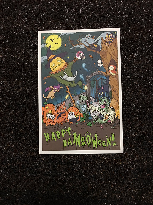 """Happy Ha""""Meow""""een! Postcard"""