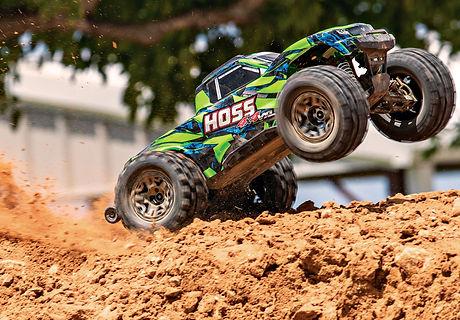 90076-4-Hoss-4x4-VXL-GREEN-Dirt-Wheelie-