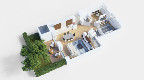 3D Floor plan / 3D Cut Section