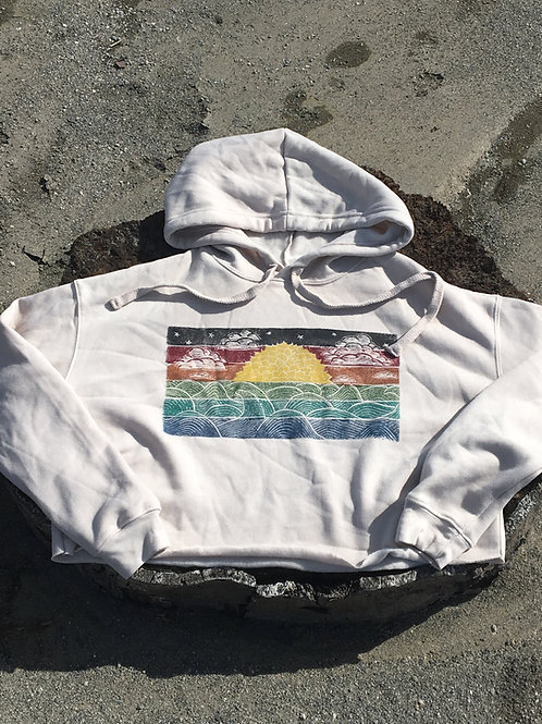 Autumn Sunset Crop Hoodie