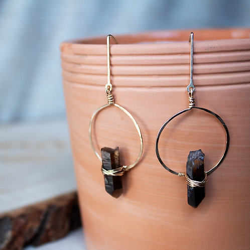 Smoky Quartz Balance Earrings