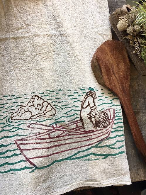 Old Man and the Sea Tea Towel