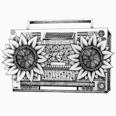 Floral Boombox