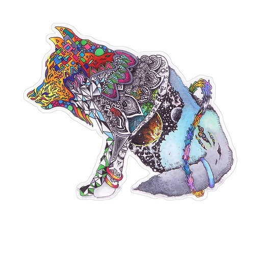 Rainbow Wolf Sticker