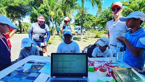 37 jeunes participants de moins de 13 ans pour la première étape du Tahiti Junior Tour 2021.