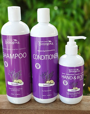 Natural bio-degradable sulphate free soap free shampoo and conditioner