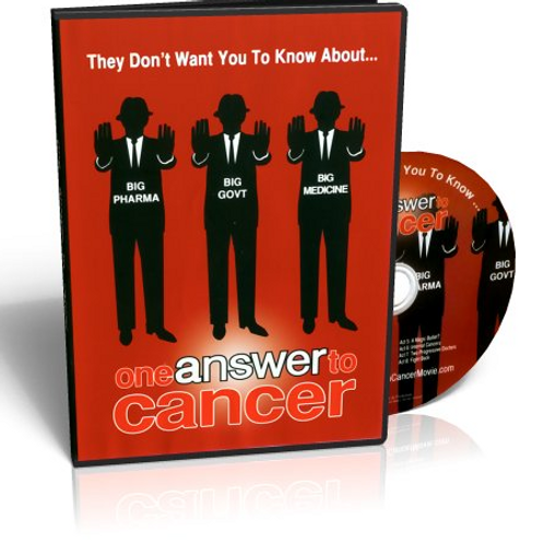 DVD Cover of One Answer to Cancer by Elaine Hollingsworth
