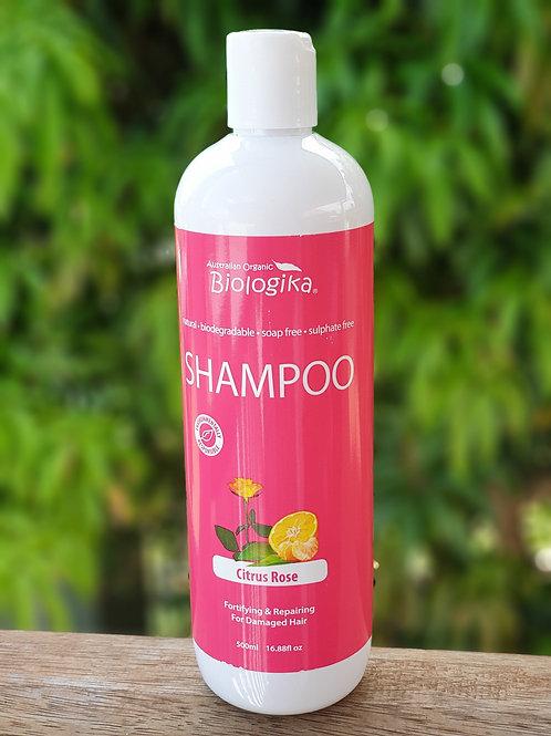 Organic Citrus Rose Shampoo 500ml Biologika