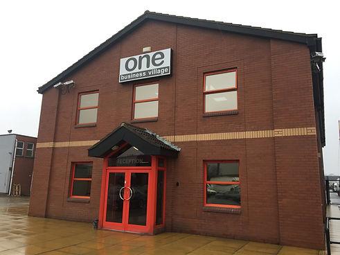 Reception entrance to One Businss Village, Emily Street, HULL. HU9 1ND