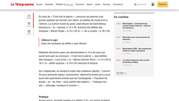 17/05/2019 - Le Télégramme