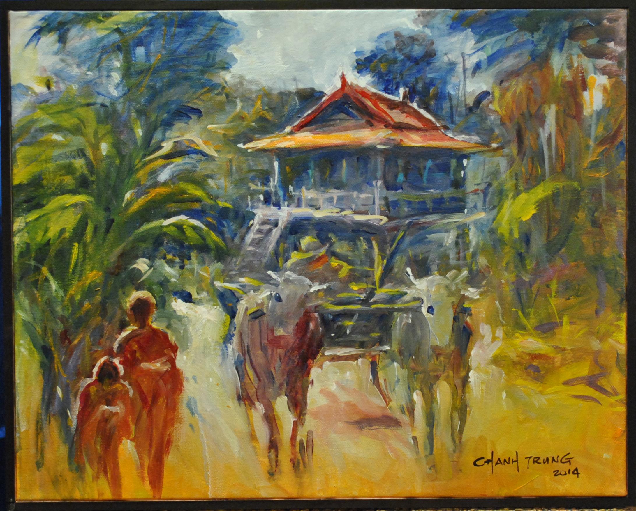 2014, Maison Villageoise,Cambodge