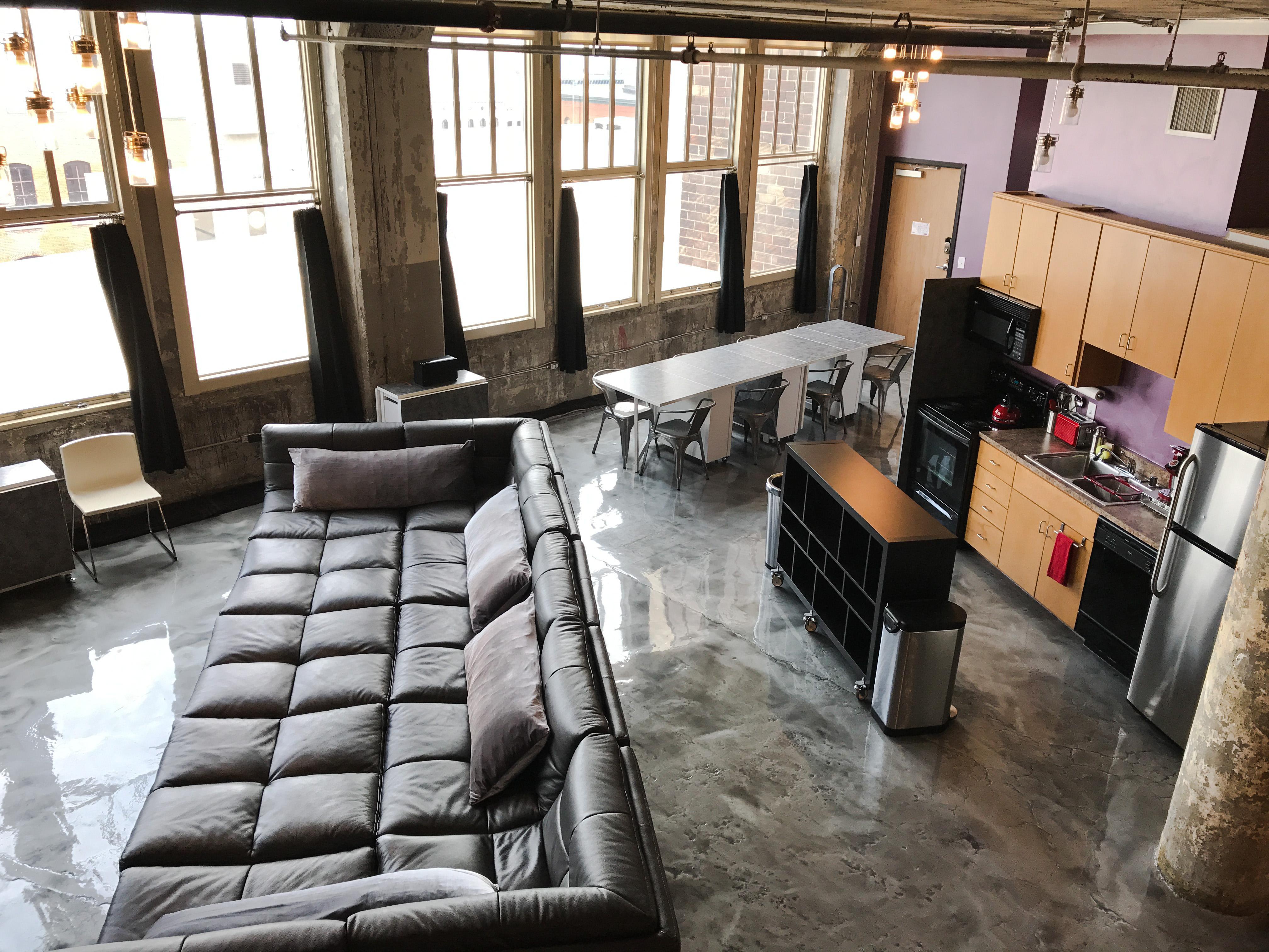 Loft Reverie Hotel 704 - Cloud Sofa + Kitchen + Views