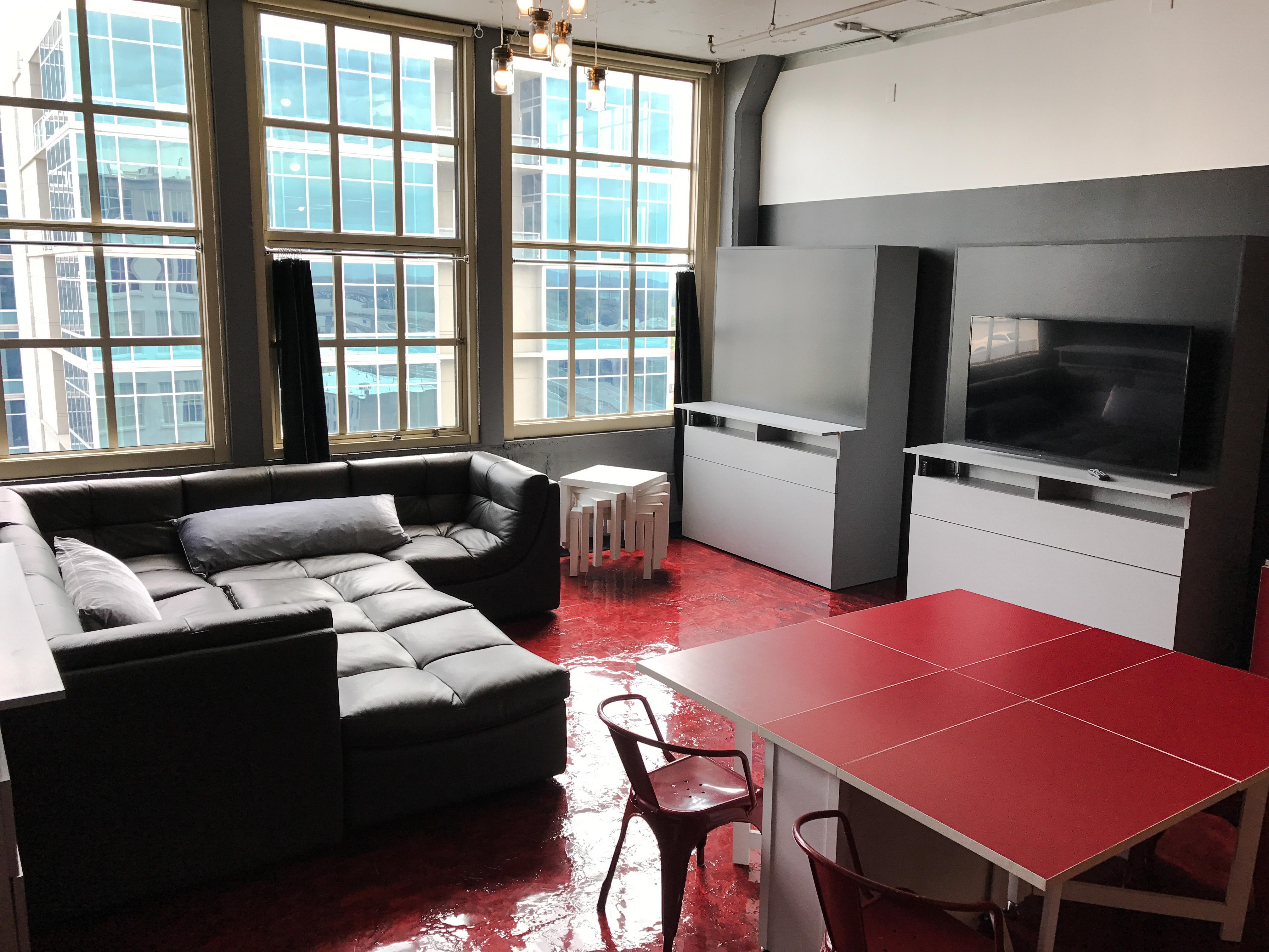 Loft Reverie Hotel 708 - Living + Dining + TV
