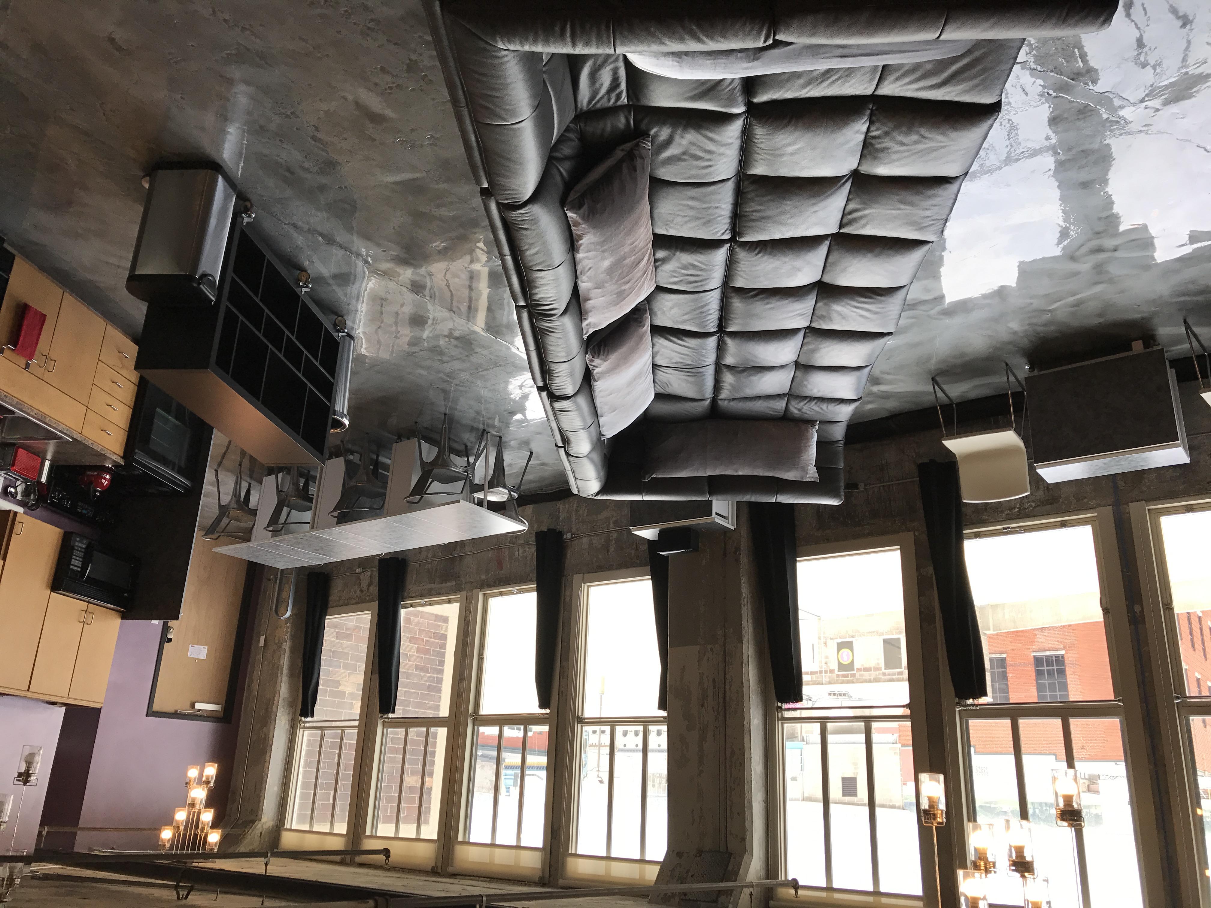Loft Reverie Hotel 704 - Airy Loft with Lounge Pit + Cloud Sofa + Ohio River Views + Louisville Slug