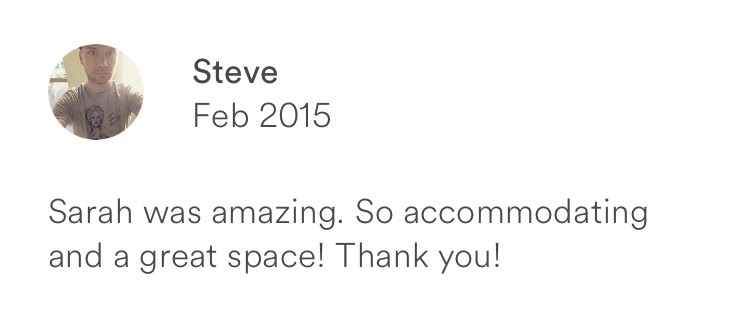 Steve February 2015 + amazing host + accommodating + great space