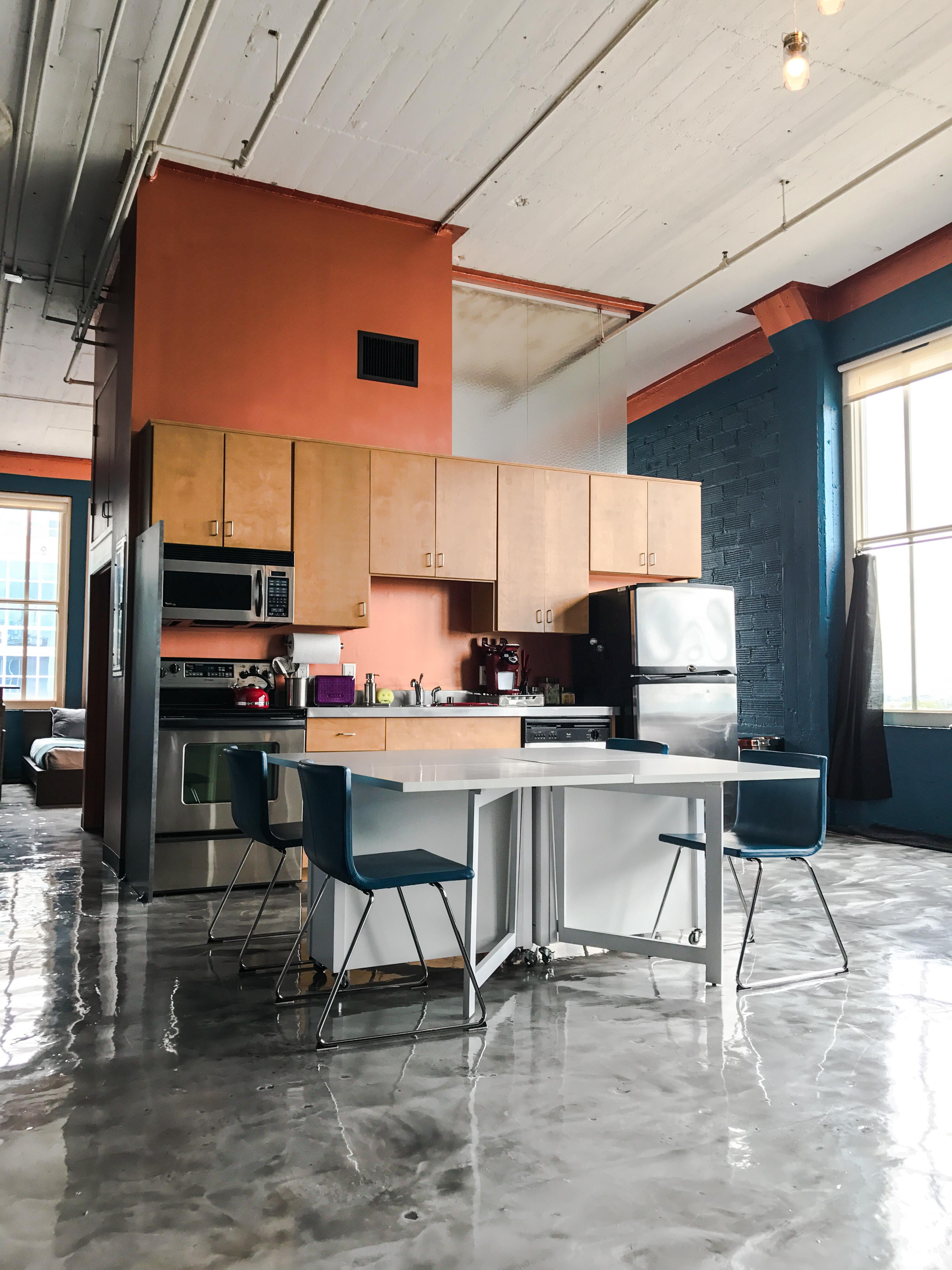 Loft Reverie Hotel 806 - Convenient Kitchen + Dining + Living + Louisville Loft Life
