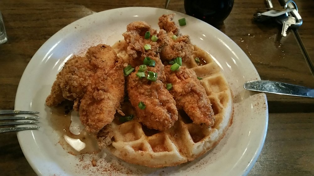 Fried Chicken and Waffles at Dish on Main