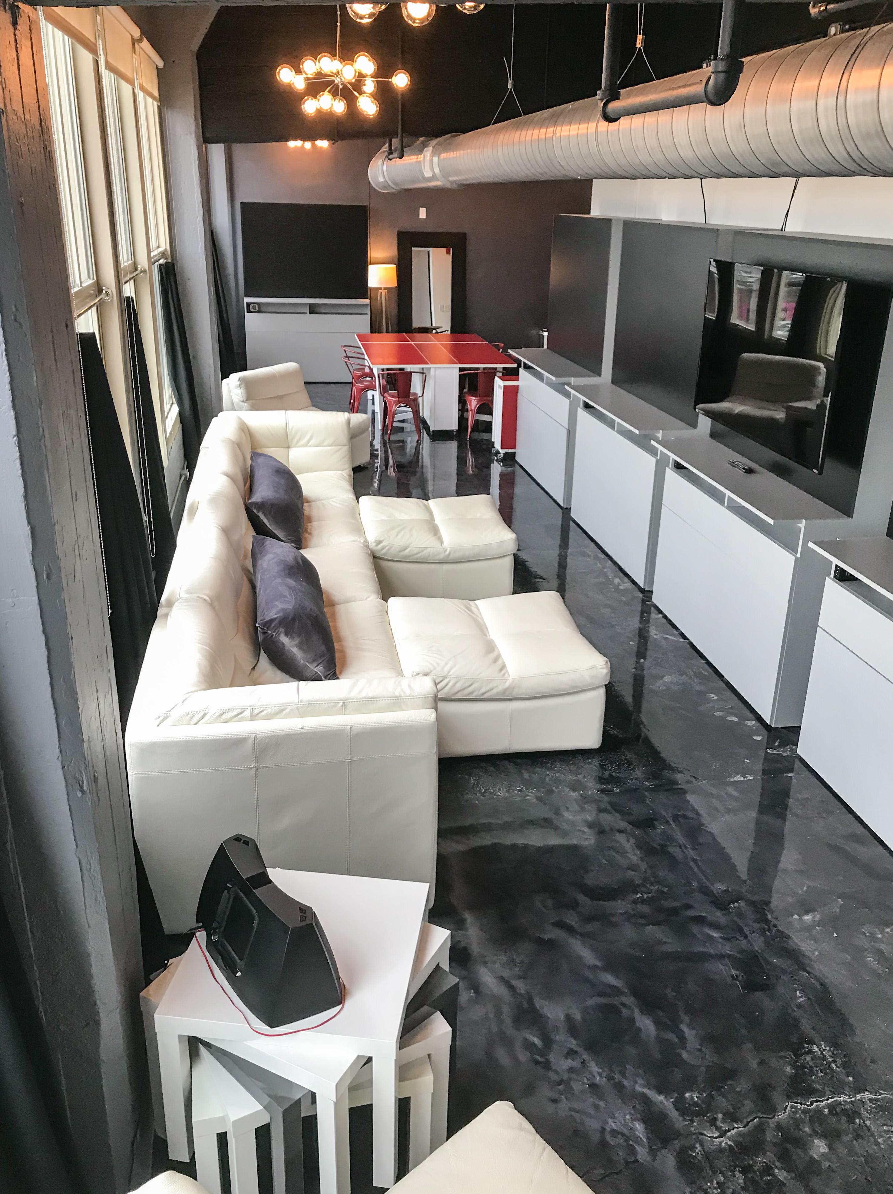 Loft Reverie Hotel 803 - Lounge Pit + Cloud Sofa + Tall Windows + Open Loft + Dining + Mirror + HDTV
