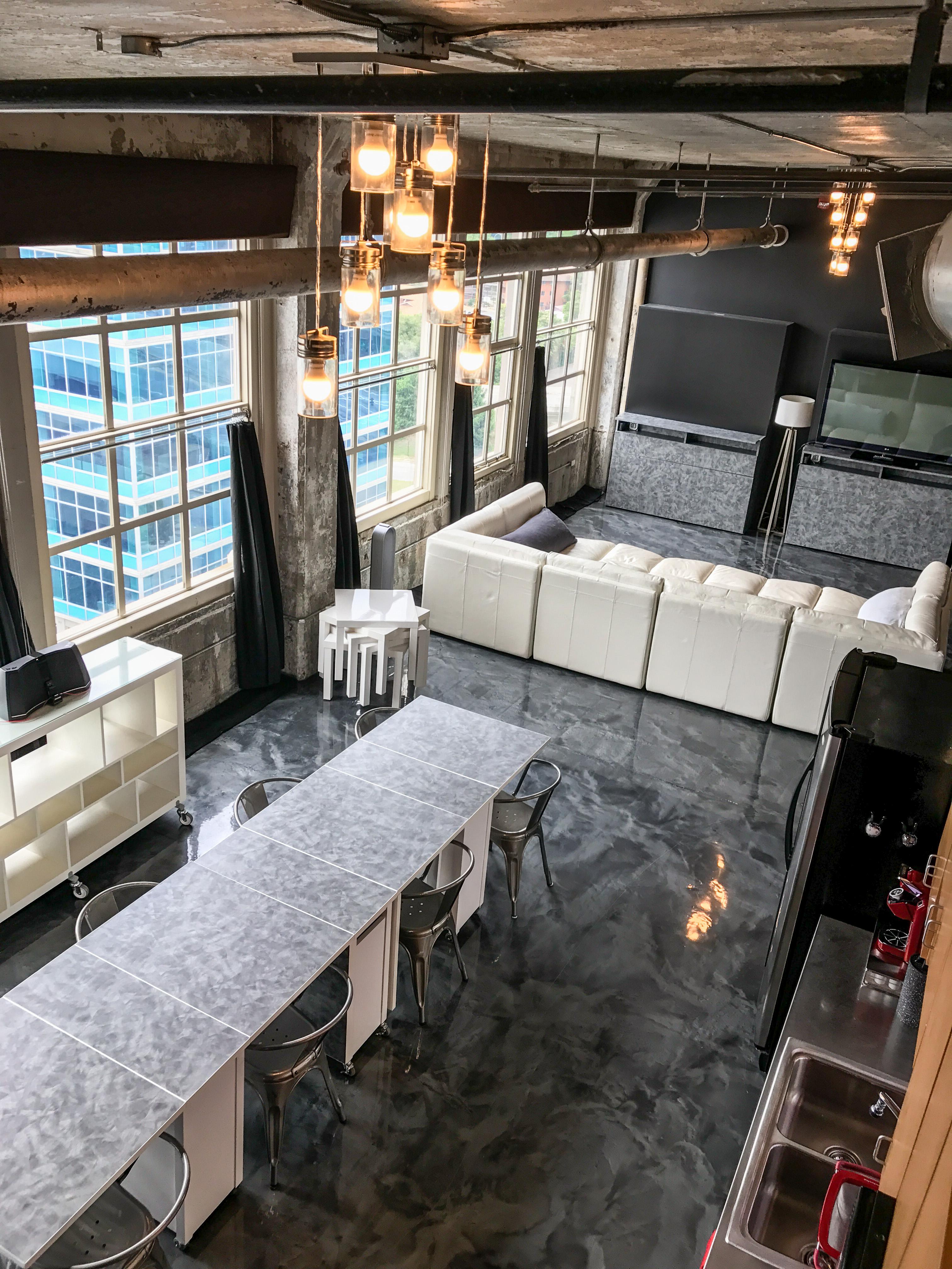 Loft Reverie Hotel 812 - Dining + Living Areas + Birdseye View