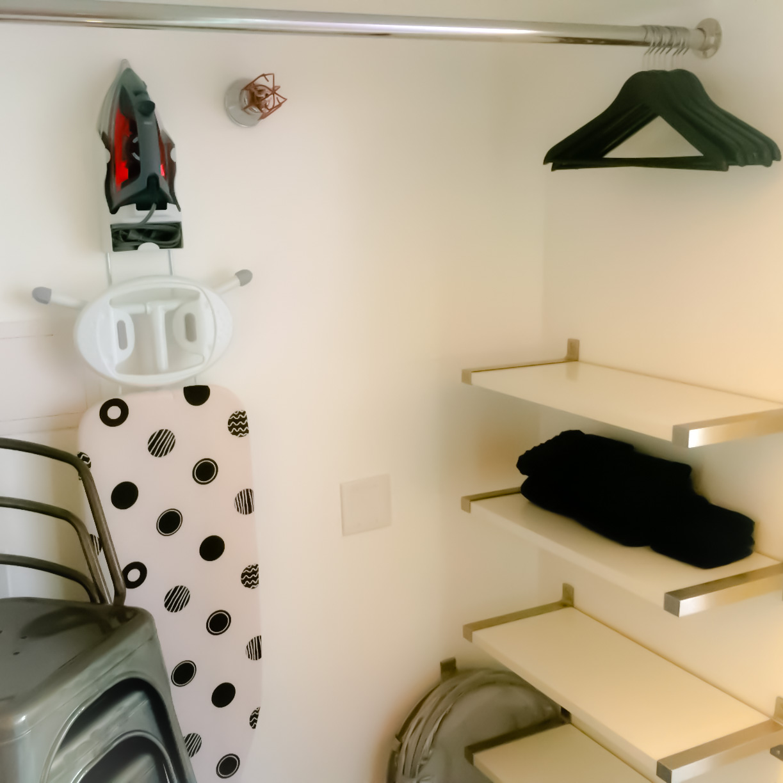 Iron Ironing Board Hangers Towels Closet - Loft Reverie Amenities