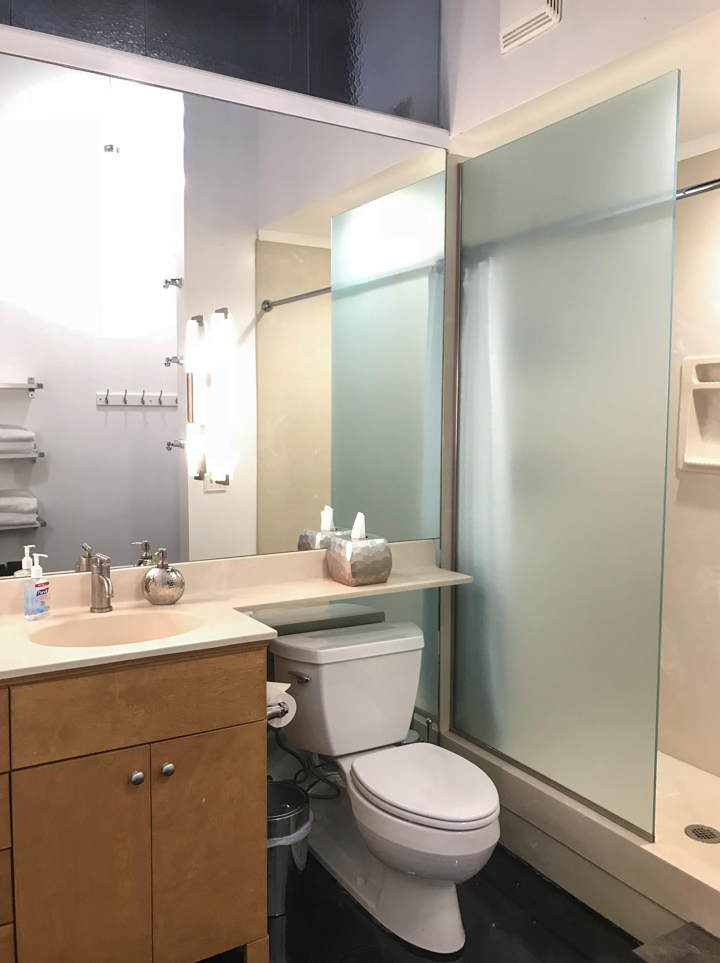 Loft Reverie Hotel 803 + Bath + Sink + Toilet + Shower + Soaps + Towlels
