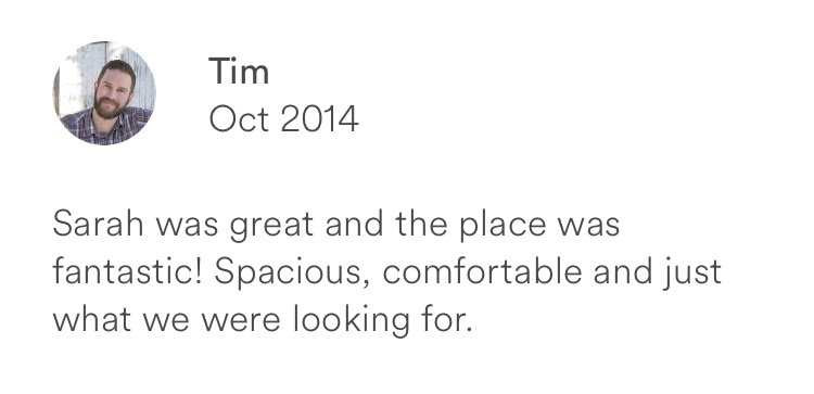 Tim October 2014 + great host + spacious and comfortable place to stay