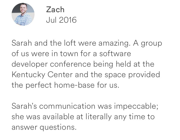 Zach July 2016 + amazing + software developer conference + impeccable communication + available host