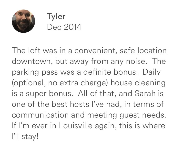 Tyler December 2014 + convenient + safe + housekeeping + louisville
