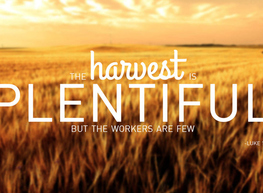 "The bible tells us – ""The harvest is plentiful but the laborers are few."""