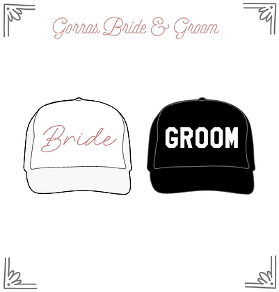 Gorras Bride & Groom
