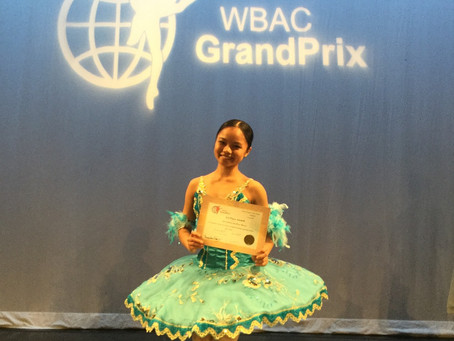 BdA student won first prize at Ballet Competition WBAC !