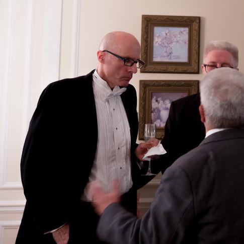 Mayor of Port Chester, Mr. Richard Falanka in converation with Board members Frank De Ligio and Bruce Mc Donald