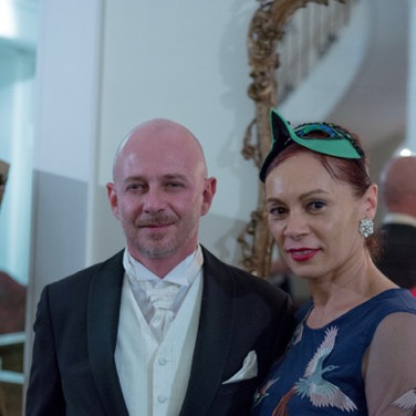 Guest of honor, Mr. Eric Bayer, Deputy Consul General of France with choreographer Carole Alexis