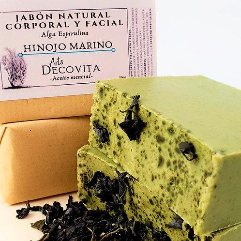 Pack 2 Jabones Anticelulíticos de Alga Espirulina e Hinojo Marino - A corte