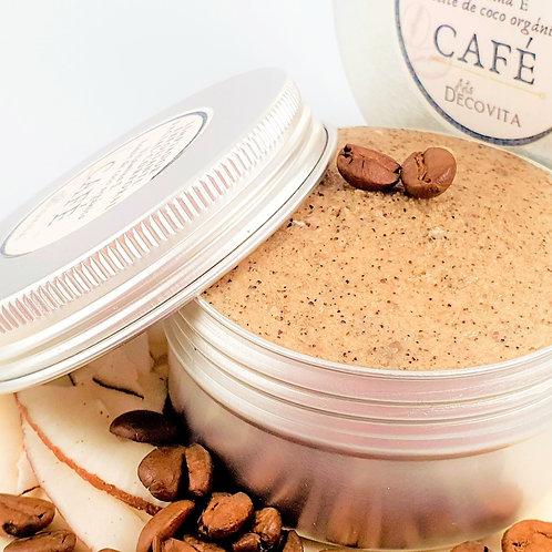 Mousse Exfoliante Limpiador Crema de Café y Coco orgánico